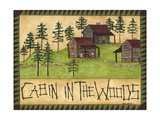 Cabin in the Woods Reproduction giclée Premium par Cindy Shamp