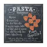 Pasta Recipe Print by Jo Moulton