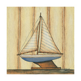 Pinstripe Boat Poster by Kim Lewis