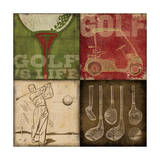 Golf 4 Patch Posters by Stephanie Marrott