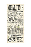 Mealtime Posters by Jo Moulton