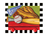 Baseball Print by Kathy Middlebrook