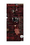 Red Wine - Black Posters by Lisa Wolk