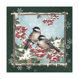 Winter Chickadees Prints by Anita Phillips