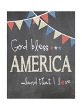 God Bless America Print by Jo Moulton