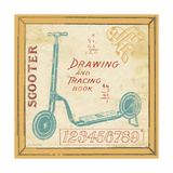 Vintage Scooter Prints by Jo Moulton