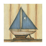 Sailboat with Star Premium Giclee Print by Kim Lewis