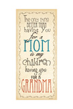 Mom and Grandma Posters by Jo Moulton