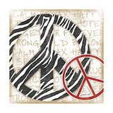 Peace Zebra Prints by Jennifer Pugh