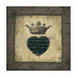 Script Heart Poster by Stephanie Marrott