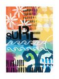Abstract Surf Kunstdrucke von Linda Woods
