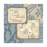 Live Laugh Love Print by Jo Moulton