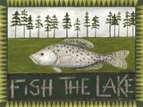 Fish the Lake Giclee-tryk i høj kvalitet af Cindy Shamp