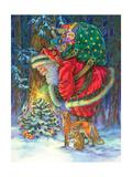 Santa's Star Affiches par Donna Race
