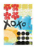Abstract XOXO Posters by Linda Woods