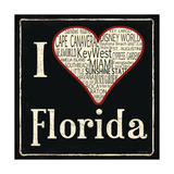Florida Posters by Jo Moulton
