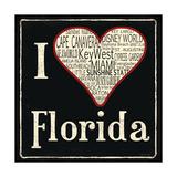 Florida Posters by Jo Moulton
