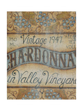 Valley Vineyard I Print by Kim Lewis