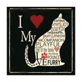 I Love My Cat Premium Giclee Print by Jo Moulton