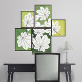 Martha Stewart Living Pressed Leaf Tiles Wall Decal