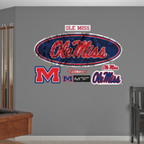 Ole Miss Rebels Realtree Logo Wall Decal