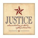 Justicia Póster por Stephanie Marrott
