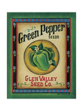 Green Pepper Seeds Posters by Kim Lewis