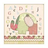 Alphabet Elephant Poster by Jo Moulton