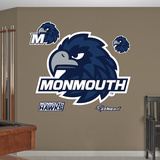 Monmouth Hawks Logo Wall Decal