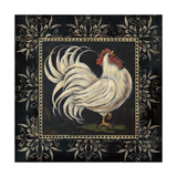 Black and White Rooster I Poster von Jo Moulton