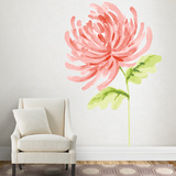 Martha Stewart Living Watercolor Chrysanthemum Transfer Wall Decal