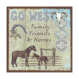 Go West Posters by Anita Phillips