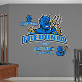Fredonia State Blue Devils Logo Wall Decal