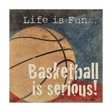 Basketball Premium Giclee Print by Jo Moulton