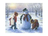 Snow Play Prints by Vickie Wade
