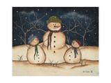 Two Snowmen Prints by Kim Lewis