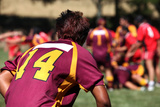 Rugby Player in Action Photographic Print by  Friday
