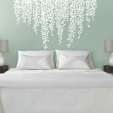 Martha Stewart Living Hanging Wisteria White Transfer Wall Decal