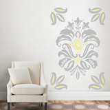 Linen Damask - Gray & Yellow Transfer Wall Decal