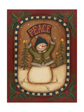 Peace Snowman Prints by Kim Lewis
