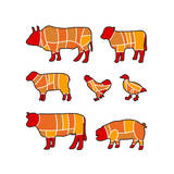 Cutting Meat Prints by Goran Benisek
