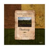 Chardonnay Wine Label Premium Giclee Print by Shawnda Craig