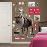 Sven and Olaf Wall Decal