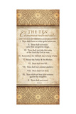 The Ten Commandments Poster by Jennifer Pugh