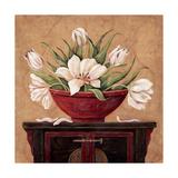 Zen Tulips Affiche par Jo Moulton