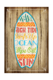 Surfboard Print by Jennifer Pugh