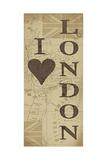 I Love London Prints by Jo Moulton