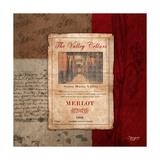 Merlot Wine Label Premium Giclee Print by Shawnda Craig