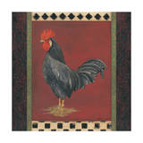 Black Rooster Posters by Stephanie Marrott