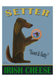 Setter Irish Cheese Giclee Print by Ken Bailey